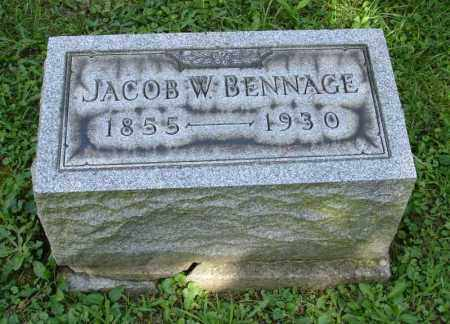 BENNAGE, JACOB W - Summit County, Ohio | JACOB W BENNAGE - Ohio Gravestone Photos