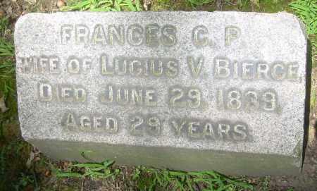 BIERCE, FRANCES C. P. - Summit County, Ohio   FRANCES C. P. BIERCE - Ohio Gravestone Photos