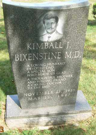 BIXENSTINE, MD, KIMBALL J - Summit County, Ohio   KIMBALL J BIXENSTINE, MD - Ohio Gravestone Photos