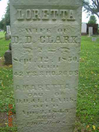 CLARK, AMARETTA - Summit County, Ohio | AMARETTA CLARK - Ohio Gravestone Photos
