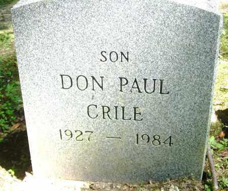CRILE, DON PAUL - Summit County, Ohio | DON PAUL CRILE - Ohio Gravestone Photos