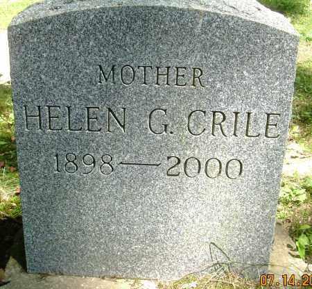HOPKINS CRILE, HELEN G - Summit County, Ohio | HELEN G HOPKINS CRILE - Ohio Gravestone Photos