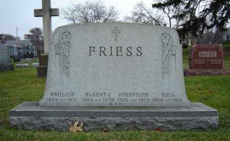 FRIESS, JOSEPHINE - Summit County, Ohio | JOSEPHINE FRIESS - Ohio Gravestone Photos
