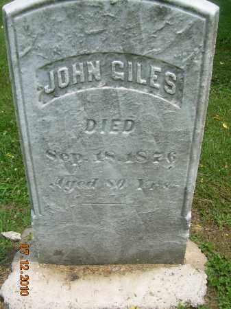 GILES, JOHN - Summit County, Ohio | JOHN GILES - Ohio Gravestone Photos