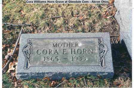 WILLIAMS HORN, CORA ELIZA - Summit County, Ohio | CORA ELIZA WILLIAMS HORN - Ohio Gravestone Photos