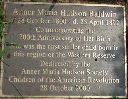 HUDSON HUDSON, ANNER MARIA - Summit County, Ohio | ANNER MARIA HUDSON HUDSON - Ohio Gravestone Photos