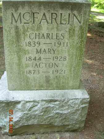 MCFARLIN, MARY - Summit County, Ohio | MARY MCFARLIN - Ohio Gravestone Photos