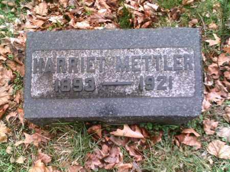 METTLER, HARRIET - Summit County, Ohio | HARRIET METTLER - Ohio Gravestone Photos