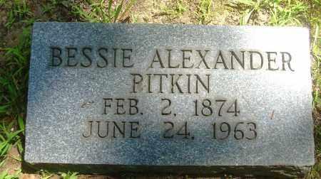 ALEXANDER PITKIN, BESSIE - Summit County, Ohio | BESSIE ALEXANDER PITKIN - Ohio Gravestone Photos