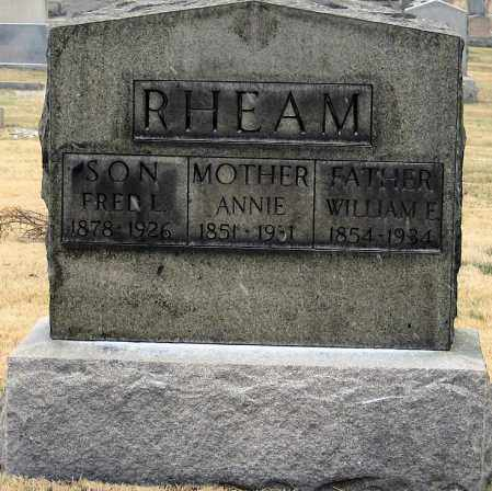 RHEAM, WILLIAM E. - Summit County, Ohio | WILLIAM E. RHEAM - Ohio Gravestone Photos
