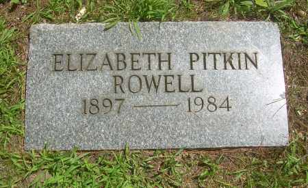 PITKIN ROWELL, ELIZABETH - Summit County, Ohio | ELIZABETH PITKIN ROWELL - Ohio Gravestone Photos
