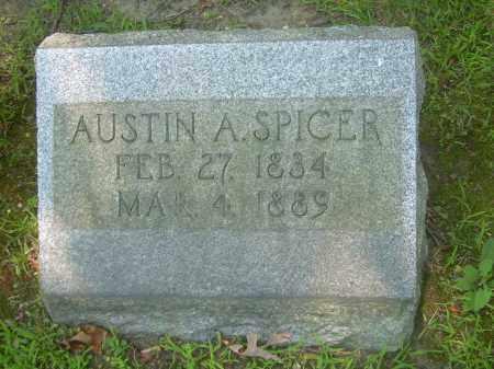 SPICER, AUSTIN A - Summit County, Ohio | AUSTIN A SPICER - Ohio Gravestone Photos