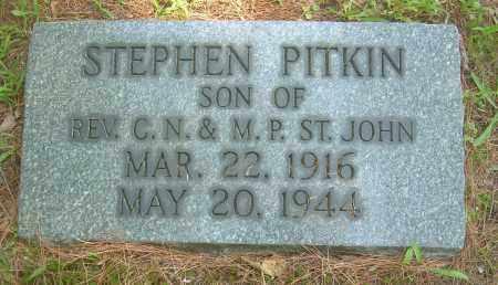 ST JOHN, STEPHEN PITKIN - Summit County, Ohio | STEPHEN PITKIN ST JOHN - Ohio Gravestone Photos
