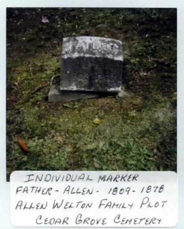 WELTON, ALLEN - Summit County, Ohio   ALLEN WELTON - Ohio Gravestone Photos