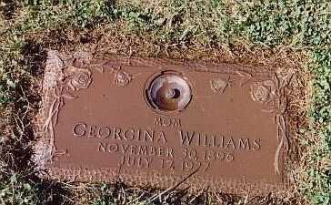WILLIAMS, GEORGINA M - Summit County, Ohio | GEORGINA M WILLIAMS - Ohio Gravestone Photos