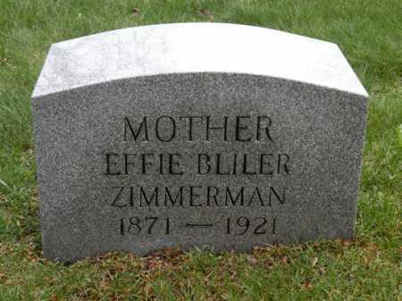 ZIMMERMAN, EFFIE - Summit County, Ohio | EFFIE ZIMMERMAN - Ohio Gravestone Photos