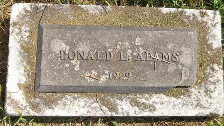 ADAMS, DONALD L. - Trumbull County, Ohio | DONALD L. ADAMS - Ohio Gravestone Photos