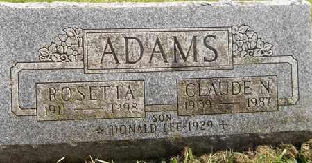 ADAMS, ROSETTA - Trumbull County, Ohio | ROSETTA ADAMS - Ohio Gravestone Photos
