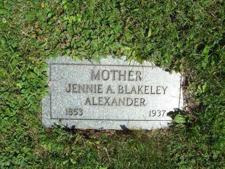 ALEXANDER, JENNIE A. - Trumbull County, Ohio | JENNIE A. ALEXANDER - Ohio Gravestone Photos