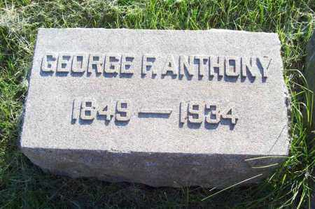 ANTHONY, GEORGE FRANKLIN - Trumbull County, Ohio | GEORGE FRANKLIN ANTHONY - Ohio Gravestone Photos