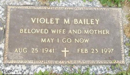 BAILEY, VIOLET M. - Trumbull County, Ohio   VIOLET M. BAILEY - Ohio Gravestone Photos