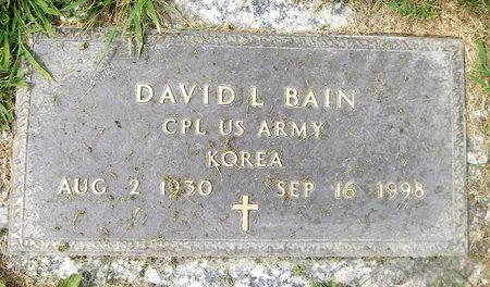 BAIN, DAVID L. - Trumbull County, Ohio | DAVID L. BAIN - Ohio Gravestone Photos