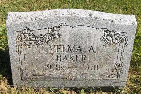 BAKER, VELMA A. - Trumbull County, Ohio | VELMA A. BAKER - Ohio Gravestone Photos