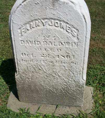 BALDWIN, FANNY - Trumbull County, Ohio | FANNY BALDWIN - Ohio Gravestone Photos