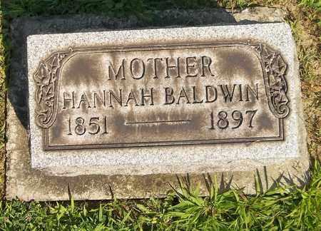 BALDWIN, HANNAH - Trumbull County, Ohio | HANNAH BALDWIN - Ohio Gravestone Photos