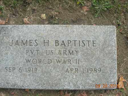 BAPTISTE, JAMES H. - Trumbull County, Ohio | JAMES H. BAPTISTE - Ohio Gravestone Photos