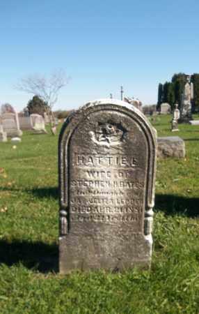 BATES, HATTIE E. - Trumbull County, Ohio | HATTIE E. BATES - Ohio Gravestone Photos