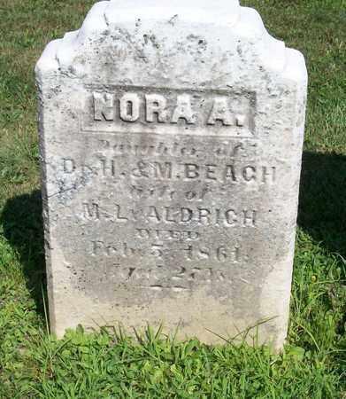 BEACH, NORA A - Trumbull County, Ohio   NORA A BEACH - Ohio Gravestone Photos