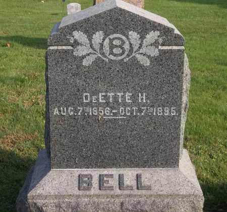 BELL, DEETTE H. - Trumbull County, Ohio   DEETTE H. BELL - Ohio Gravestone Photos