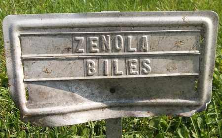 BILES, ZENOLA - Trumbull County, Ohio   ZENOLA BILES - Ohio Gravestone Photos