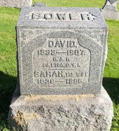 BOWER, SARAH - Trumbull County, Ohio | SARAH BOWER - Ohio Gravestone Photos