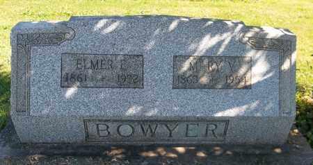 BOWYER, ELMER E. - Trumbull County, Ohio | ELMER E. BOWYER - Ohio Gravestone Photos