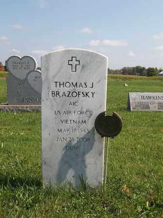 BRAZOFSKY, THOMAS J. - Trumbull County, Ohio | THOMAS J. BRAZOFSKY - Ohio Gravestone Photos