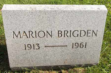 BRIGDEN, MARION - Trumbull County, Ohio | MARION BRIGDEN - Ohio Gravestone Photos