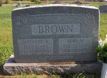 BROWN, ROBY W. - Trumbull County, Ohio | ROBY W. BROWN - Ohio Gravestone Photos
