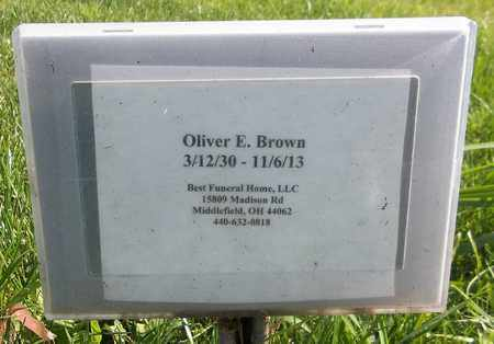 BROWN, OLIVER E. - Trumbull County, Ohio | OLIVER E. BROWN - Ohio Gravestone Photos