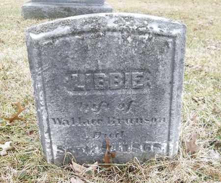 BRUNSON, LIBBIE - Trumbull County, Ohio | LIBBIE BRUNSON - Ohio Gravestone Photos