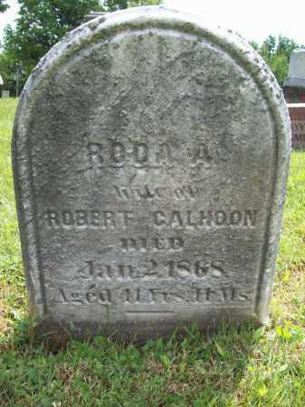 CALHOON, RODA A. - Trumbull County, Ohio   RODA A. CALHOON - Ohio Gravestone Photos