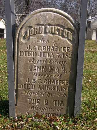 CHAFFEE, JOHN MILTON - Trumbull County, Ohio | JOHN MILTON CHAFFEE - Ohio Gravestone Photos
