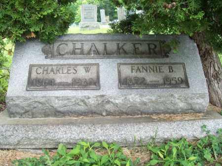 CHALKER, FANNIE B. - Trumbull County, Ohio | FANNIE B. CHALKER - Ohio Gravestone Photos