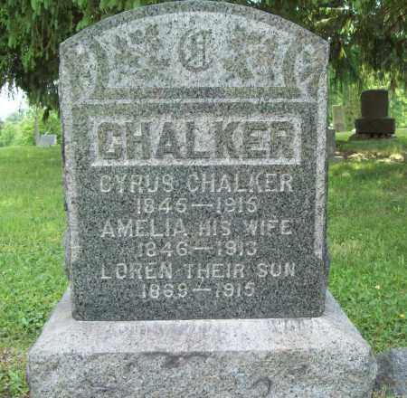 CHALKER, CYRUS - Trumbull County, Ohio | CYRUS CHALKER - Ohio Gravestone Photos