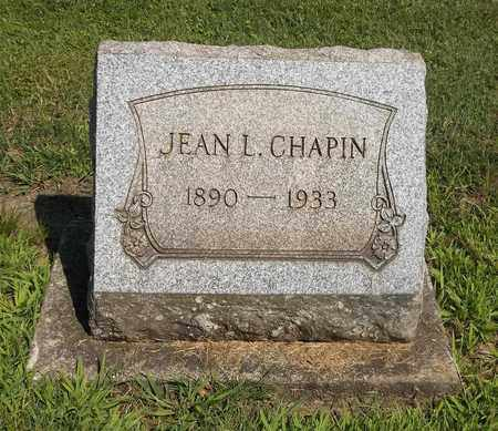 CHAPIN, JEAN L. - Trumbull County, Ohio | JEAN L. CHAPIN - Ohio Gravestone Photos