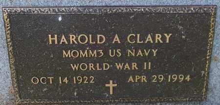 CLARY, HAROLD A. - Trumbull County, Ohio | HAROLD A. CLARY - Ohio Gravestone Photos