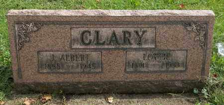CLARY, J. ALBERT - Trumbull County, Ohio | J. ALBERT CLARY - Ohio Gravestone Photos