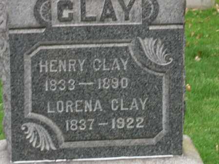 CLAY, LORENA - Trumbull County, Ohio | LORENA CLAY - Ohio Gravestone Photos