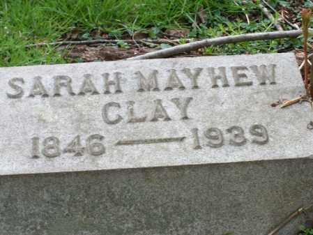 CLAY, SARAH - Trumbull County, Ohio | SARAH CLAY - Ohio Gravestone Photos